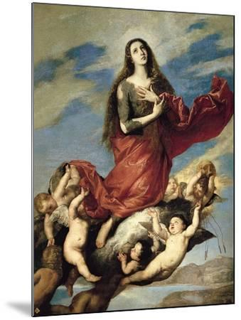Mary Magdalene Taken Up to Heaven-Jos? de Ribera-Mounted Giclee Print