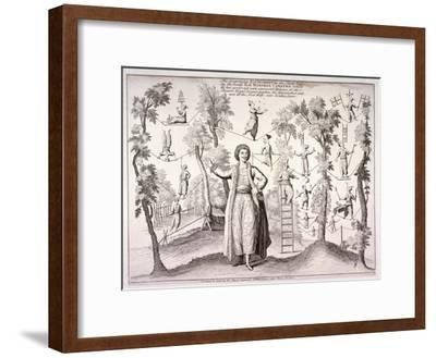 The Grand Turk, Mahomed Caratha, at the New Wells, (Islington Sp), London, C1780--Framed Giclee Print