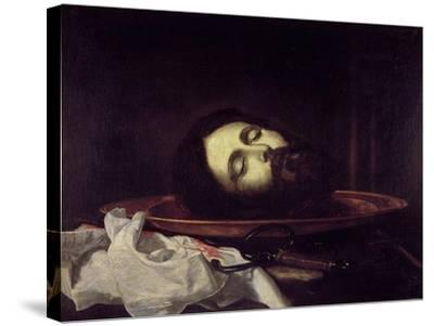 The Head of Saint John the Baptist-Jos? de Ribera-Stretched Canvas Print