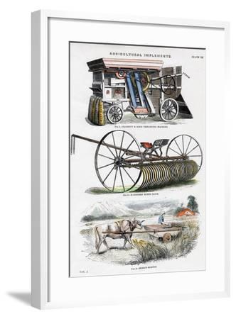 Agricultural Implements, 19th Century--Framed Giclee Print