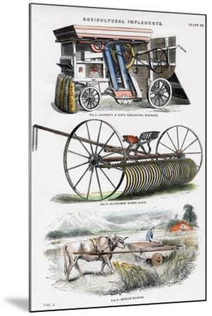 Agricultural Implements, 19th Century--Mounted Giclee Print