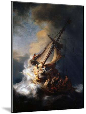 Christ in the Storm on the Lake of Galilee, 1633-Rembrandt van Rijn-Mounted Premium Giclee Print