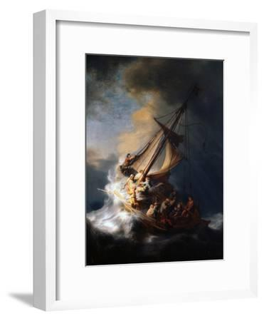 Christ in the Storm on the Lake of Galilee, 1633-Rembrandt van Rijn-Framed Giclee Print