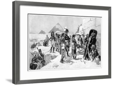Napoleon Bonaparte Inspecting a Mummy at the Pyramids, 1801-Maurice Orange-Framed Giclee Print