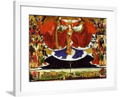 The Coronation of the Virgin, 1454-Enguerrand Quarton-Framed Giclee Print