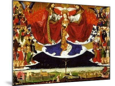 The Coronation of the Virgin, 1454-Enguerrand Quarton-Mounted Giclee Print