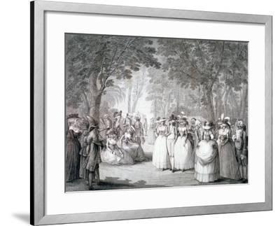 The Garden of Carlton House, London, 1784-Henry William Bunbury-Framed Giclee Print