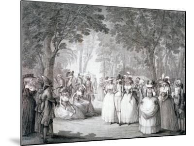 The Garden of Carlton House, London, 1784-Henry William Bunbury-Mounted Giclee Print