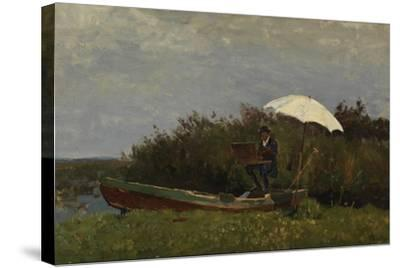 The Painter Gabriël Working in a Boat, 1882-Willem Bastiaan Tholen-Stretched Canvas Print