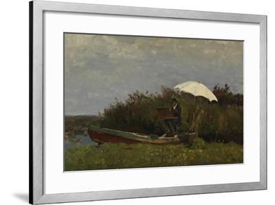 The Painter Gabriël Working in a Boat, 1882-Willem Bastiaan Tholen-Framed Giclee Print