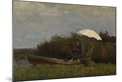 The Painter Gabriël Working in a Boat, 1882-Willem Bastiaan Tholen-Mounted Giclee Print