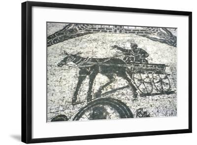 Roman Cart, Mosaic from the Frigidarium, Ostia, Italy, C150--Framed Giclee Print