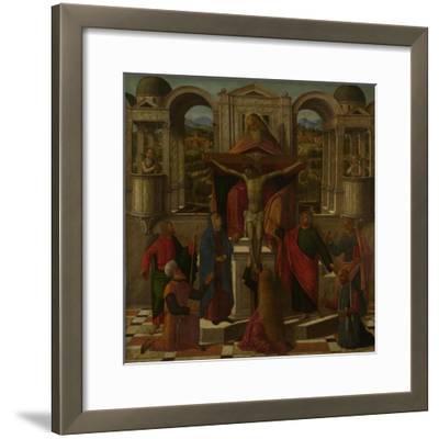 Symbolic Representation of the Crucifixion, C. 1492-Giovanni di Niccolò Mansueti-Framed Giclee Print