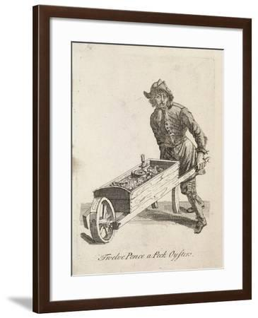 Twelve Pence a Peck Oysters, Cries of London, C1688-Marcellus Laroon-Framed Giclee Print