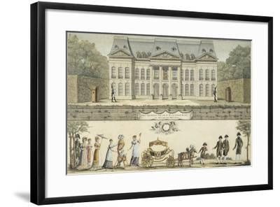 The First Steps of the King of Rome at the Chateau of Meudon, 19th Century--Framed Giclee Print