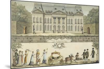 The First Steps of the King of Rome at the Chateau of Meudon, 19th Century--Mounted Giclee Print
