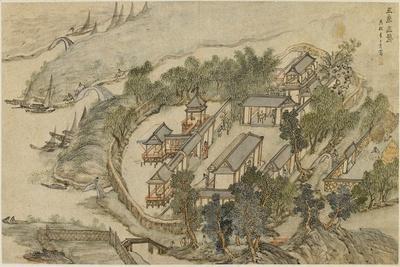 The Five Deer Hermitage, Early 17th C-Li Shida-Framed Giclee Print