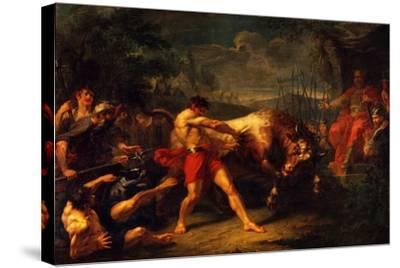 The Trial of Strength of Yan Usmar, 1796-Grigori Ivanovich Ugryumov-Stretched Canvas Print