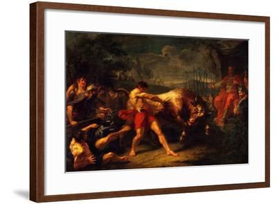 The Trial of Strength of Yan Usmar, 1796-Grigori Ivanovich Ugryumov-Framed Giclee Print