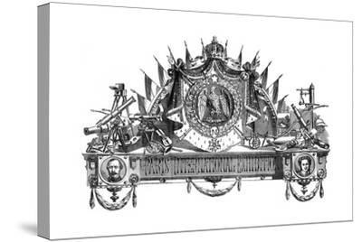 Emblem of the Paris International Exhibition, 1867--Stretched Canvas Print