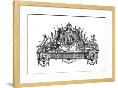 Emblem of the Paris International Exhibition, 1867--Framed Giclee Print