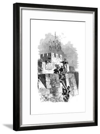 The Capture of Ting-Hae, China, 1841--Framed Giclee Print