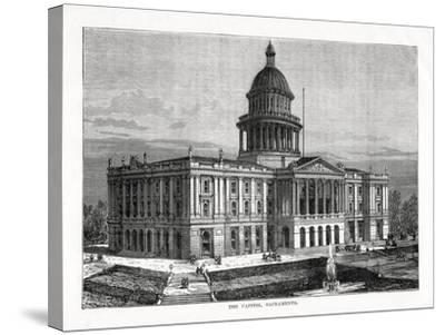 The Capitol, Sacramento, California, USA, 1877--Stretched Canvas Print