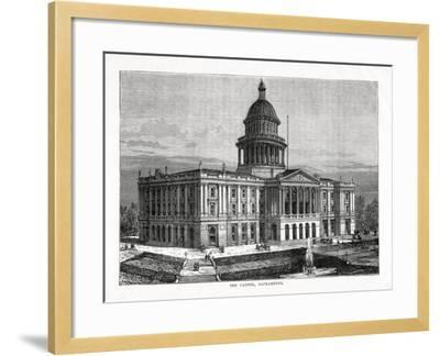 The Capitol, Sacramento, California, USA, 1877--Framed Giclee Print