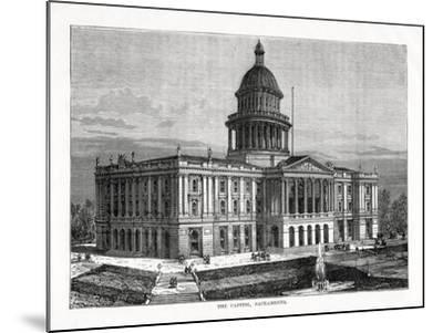 The Capitol, Sacramento, California, USA, 1877--Mounted Giclee Print