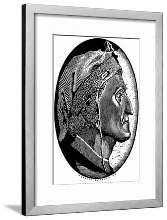 Dante Alighieri (1265-132), 1918-Sergei Vasilievich Chekhonin-Framed Giclee Print