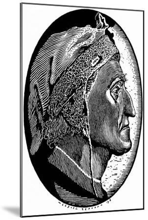 Dante Alighieri (1265-132), 1918-Sergei Vasilievich Chekhonin-Mounted Giclee Print