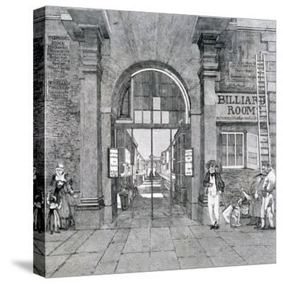 Western Entrance to Exeter Change, Westminster, London, 1829--Stretched Canvas Print