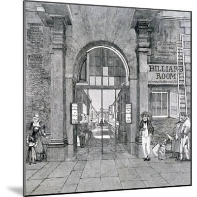Western Entrance to Exeter Change, Westminster, London, 1829--Mounted Giclee Print