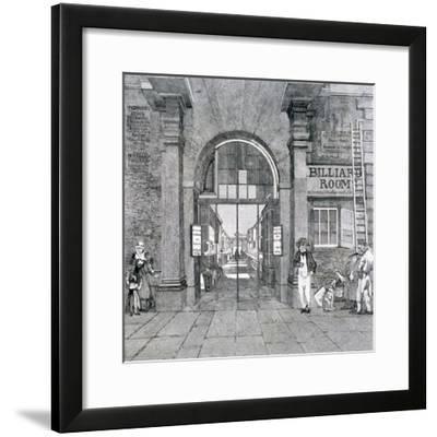 Western Entrance to Exeter Change, Westminster, London, 1829--Framed Giclee Print