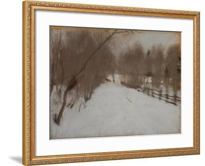 Winter Road to Domotkanovo, 1904-Valentin Alexandrovich Serov-Framed Giclee Print