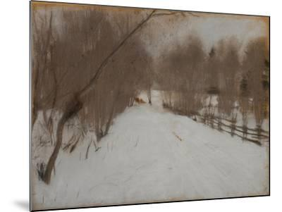 Winter Road to Domotkanovo, 1904-Valentin Alexandrovich Serov-Mounted Giclee Print