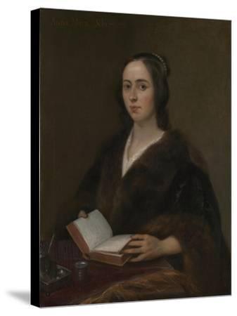Portrait of Anna Maria Van Schurman (1607-167), 1649-Jan Lievens-Stretched Canvas Print