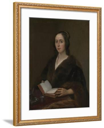 Portrait of Anna Maria Van Schurman (1607-167), 1649-Jan Lievens-Framed Giclee Print