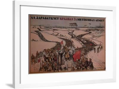 Long Live the Three-Million Man Red Army!, 1919--Framed Giclee Print