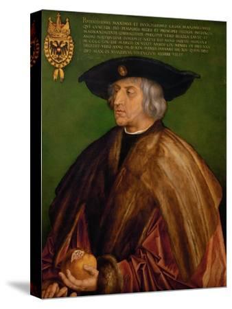 Portrait of Emperor Maximilian I (1459-151), 1519-Albrecht D?rer-Stretched Canvas Print