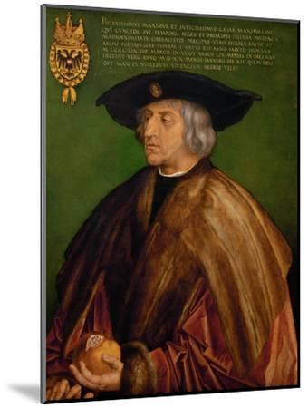Portrait of Emperor Maximilian I (1459-151), 1519-Albrecht D?rer-Mounted Premium Giclee Print