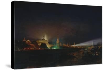 Illumination of the Moscow Kremlin, 1883-Alexei Petrovich Bogolyubov-Stretched Canvas Print