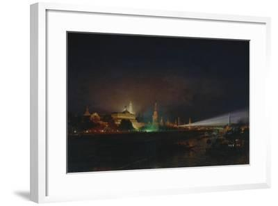 Illumination of the Moscow Kremlin, 1883-Alexei Petrovich Bogolyubov-Framed Giclee Print