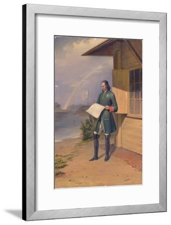 Peter I on the Bank of the Neva River, 1843-Anton Ivanovich Ivanov-Framed Giclee Print