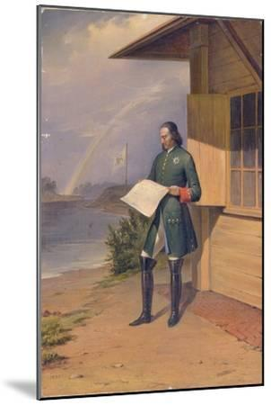 Peter I on the Bank of the Neva River, 1843-Anton Ivanovich Ivanov-Mounted Giclee Print