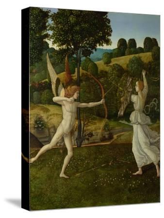 The Combat of Love and Chastity, Between 1475 and 1500-Gherardo di Giovanni del Fora-Stretched Canvas Print