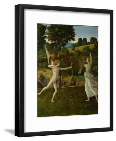 The Combat of Love and Chastity, Between 1475 and 1500-Gherardo di Giovanni del Fora-Framed Giclee Print