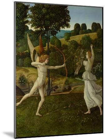The Combat of Love and Chastity, Between 1475 and 1500-Gherardo di Giovanni del Fora-Mounted Giclee Print