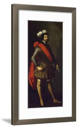 Saint Ferdinand III of Castile, Ca 1630-1634-Francisco de Zurbar?n-Framed Giclee Print