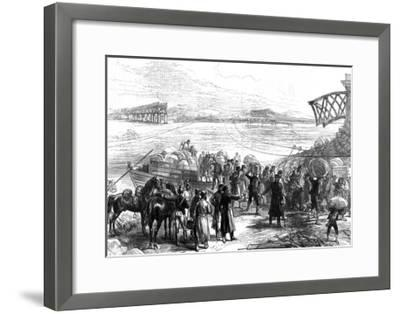 Crossing the Ebro at Castijon; War in Spain, 1875--Framed Giclee Print
